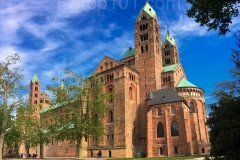Cathedral in Speyer Germany full-side