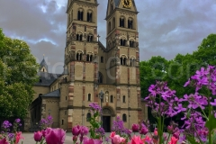 Cathedral with Flowers, Colmar Germany